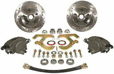 1949-54 Chevy Sedan Front Stock Spindle Disc Wheel Brake Kit