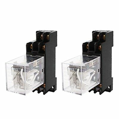 2PCS JQX-13F DC12V Coil DPDT 8Pin Power Electromagnetic Relay w Socket New