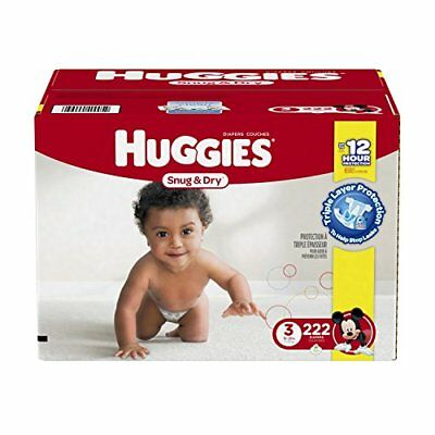 Huggies Snug & Dry Diapers, Size 3, 222 Count (One Month Supply) New