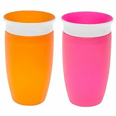 Munchkin Miracle 360 Sippy Cup, Pink/Orange, 10 Ounce, 2 Count New