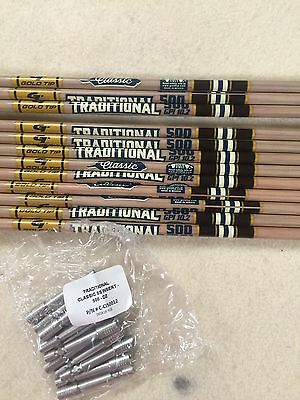 Gold Tip Traditional Classic Hunter 500 NEW  For 2016 One Dozen With 74gr Insert