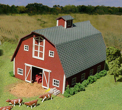 American Model Builders LaserKit S Scale Country Barn Kit #87 Bob The Train Guy