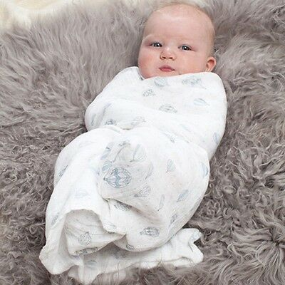 Soft Cotton Newborn Baby Infant Kids Swaddle Wrap Swaddling Sleeping Blanket