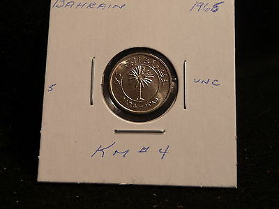 KINGDOM of BAHRAIN:   1965   10  FILS  COIN  GEM   ( UNC.) (#3405)   KM # 4
