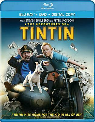 Adventures of Tintin (bd/dvd Combo) - Blu-Ray Region 1 Free Shipping!
