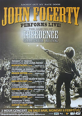 JOHN FOGERTY 2012 AUSTRALIAN CONCERT TOUR POSTER - Creedence Clearwater Revival
