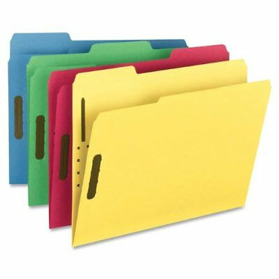 Smead Fastener File Folder, 2 Fasteners, 1/3-Cut Tab, Letter, assorted color 50