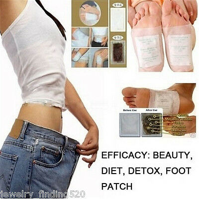 HOT 2PCs White Detox Foot Pads Remove Weight Loss Stress Relief Lose Weight Slim