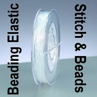 Nylon Beading Stretch Wire Elastic Cord Clear Strong Bracelet Thread 1mm x 5M