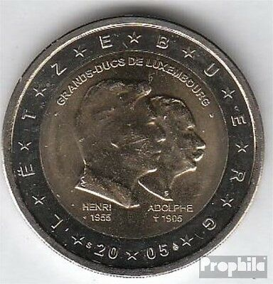Luxembourg Article: 2005 brillant uncirculated (BU) 2005 2 Euro Henri and Adolph