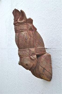 Original antique wood carving horse head corbel sconce horses head 4