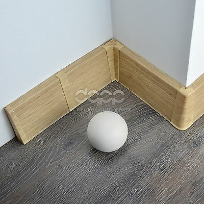 75mm PVC ALCANTRA OAK 2.5m SKIRTING BOARD & ACCESSORIES floor wall joint cover