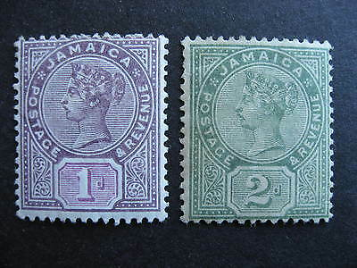 JAMAICA Sc 24-5 MH, nice stamps, check them out!