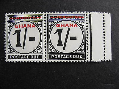 GHANA J5 pair MH with the shilling mark error, check it out!!