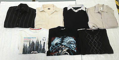 Bundle of men's tops, jumpers, shirts Size Small (x)