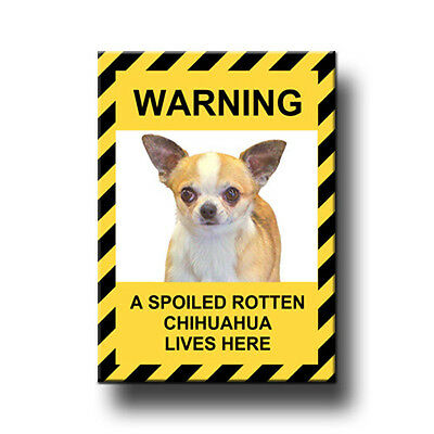 CHIHUAHUA Spoiled Rotten FRIDGE MAGNET No 1 New DOG