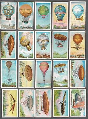 1910 ITC C44 Aviation Series Tobacco Cards Complete Set of 50 (EX)