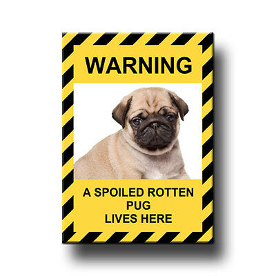 PUG Spoiled Rotten FRIDGE MAGNET New DOG Funny No 3 PUPPY
