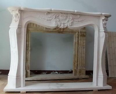 Simple yet Elegant White Marble Fireplace Mantel $3823