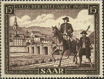 Saar 305 (complete issue) used 1951 Day the stamp