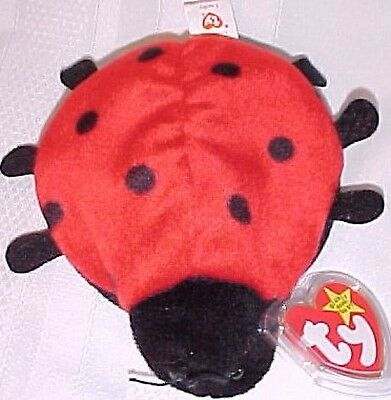 "TY Beanie Baby Babies ""LUCKY"" the LADY BUG 4th Gen MWMT Retired Plush Bean Bag"