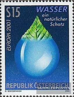 Austria 2344 (complete issue) used 2001 Water