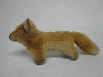 """VINTAGE STEIFF MADE IN US ZONE GERMANY SMALL 3 1/2"""" HIGH x 7 1/2"""" WIDE RED FOX"""