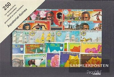 Equatorial-Guinea 250 different stamps