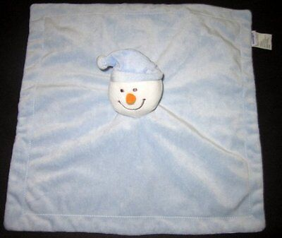 Snowman Blue Lovey Blanket Baby Plush Head Carrot Nose Babies R Us Security