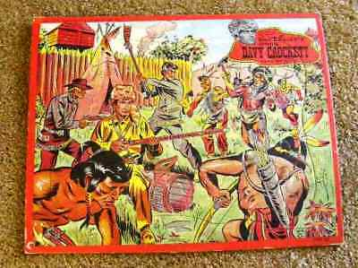 1955 Davy Crockett Puzzle Fort Under Attack As Is  Disney Item Scarce One