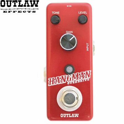 Outlaw Hangman Overdrive Distortion Guitar Effect Pedal