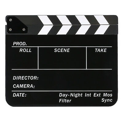 "9.85x11.8"" Acrylic Dry Erase Director Film Clapboard with White Black Sticks"