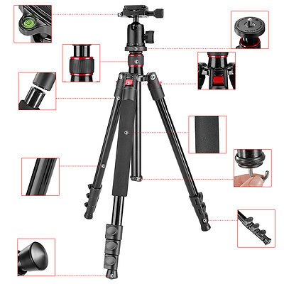 "Neewer Portable 62"" Alluminum Alloy Camera Tripod Monopod with Ball Head"