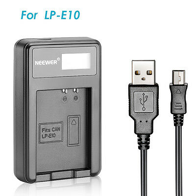 Replacement for LP-E10 USB Battery Charger Canon 1100D 1200D