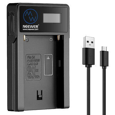 Neewer Micro USB Battery Charger for Sony NP-FM50/FM70/FM90,QM71D,91D, NP-F500H