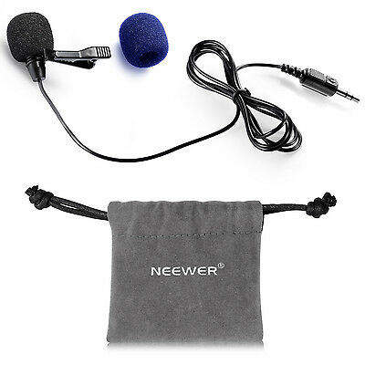 Neewer 3.5mm Clip-on Lavalier Microphone for iPhone iPad Android Smartphones