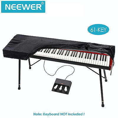 "Neewer Black 37.8*15.8*5"" Keyboard Dust Cover for 61 Key Keyboards"