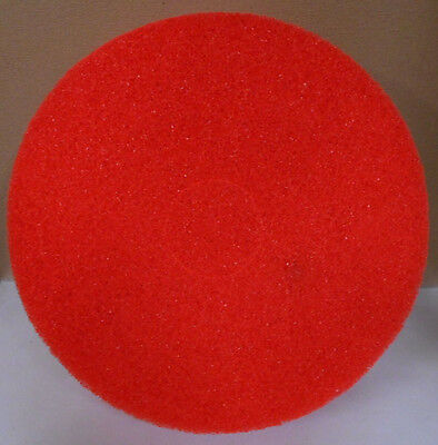 "Lot of 5  15"" Light Floor Buffing, Cleaning & Polishing Pads, Red - PDLC03015"