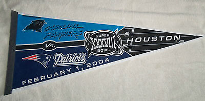 NFL : New England Patriots + Panthers Super Bowl Large Pennant - New