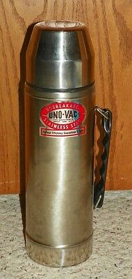 Vintage Uno-Vac - Stainless Steel / Unbreakable Thermos Bottle - 2-Quart