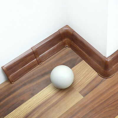 62mm PVC UMBRIA OAK 2.5m SKIRTING BOARD & ACCESSORIES floor wall modern profile