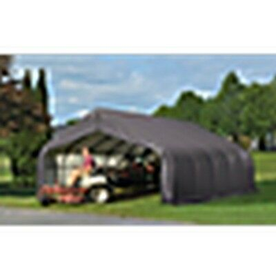 14X24X12 Peak Style Shelter, Grey Cover New