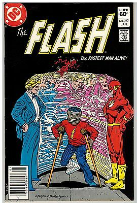 The Flash #317 1983 Infantino Art Dc Bronze Age!
