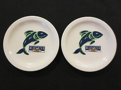 "Lot of 2 Bluewater Grill 6 1/4"" Plates Baldwinsville, NY Syracuse China 30-B"