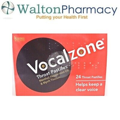 Vocalzone Vocalzones 24 Throat Pastilles Helps keep a clear Voice fast delivery