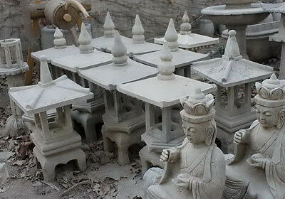 Stone Garden Statue Small Asian Style Outdoor Pagoda Lamp or Lantern 30""