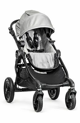 Baby Jogger 2016 City Select Double Stroller - Silver on Black Frame - Brand New