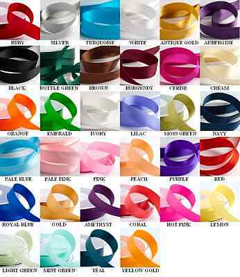 10Mm Satin Ribbon Double Sided Wedding Craft Favours Decoration 25 Metre Reel