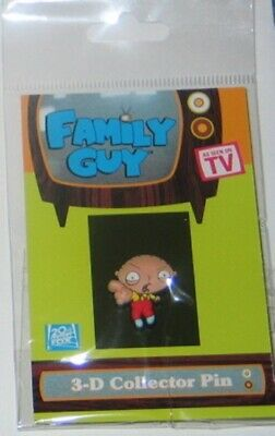 The Family Guy Stewie Pointing 3-D Figure Rubberized Pin, NEW UNUSED
