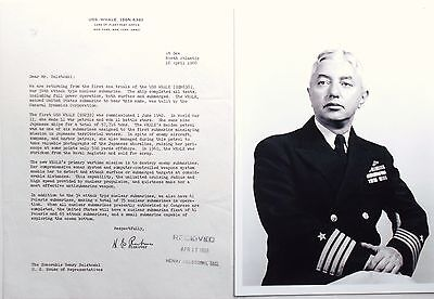 Admiral Hyman G. Rickover ''Father Of The Nuclear Navy'' Signed Typed Letter   .